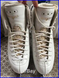 Barely Used Risport Royal Ladies Figure Skates with Coronation Ace Blades! Deal