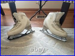 EDEA ICE FLY FIGURE SKATE 225 WITH PATTERN 99 revolution BLADES