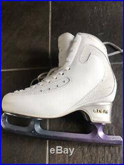 Edea Ice Fly Figure Skates Size 250 With Paramount Blades- Purple Blue Hombre