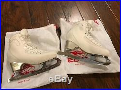 Edea Ice Fly Figure Skates Size 26.0 With Gold Seal Blades