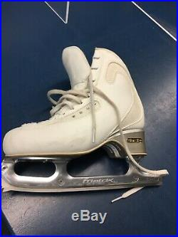 Edea Size 225 Figure Skating Boots with Matrix Freestyle Blades Size 8.5
