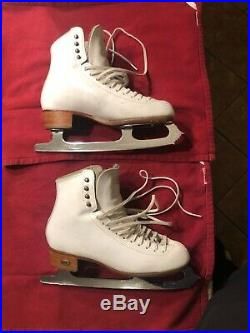 Figure skates size 7 reidell bronze star boot with mk pro blades. Used