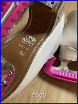 Girls Edea Figure Skates Chorus 240 with blades Pre Owned Guards Included Italy