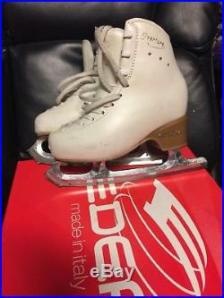 Girls Edea Overture Figure Skates with Paramount CP Blades, Size 200