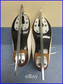 Harlick Competitior Figure Skates sz 3.5A with Carbon Sole & Matrix Legacy Blades