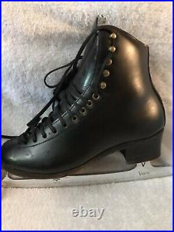 Harlick Competitor Plus Figure Skates Mens 6 CX With MK Vision Blades