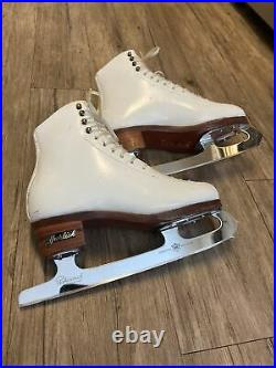 Harlick Competitor Plus figure skates with MK freestyle blades womens 6.5 c