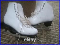 Harlick ladies figure skates dance size 8-8 1/2, skated in only 3x w blades