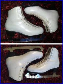 Ice Figure Skates Risport made in Italy MK Club 2000 blades Size 34 US 4 or 4.5