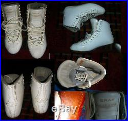 Ice Figure Skates no blades GRAF GALAXY Extra light Women 8 BOOTS ONLY