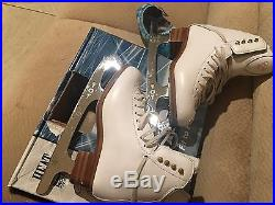 Jackson skating boots with 8 3/4 Gold seal blades, figure skating boots