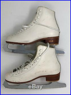 John Wilson Excel Figure Skating Blades 9 1/2 Riedell Boots 5 5M
