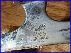 John Wilson Figure Skating Blades Size 9 1/4 Wilson Excel w Gold Sparkle Covers
