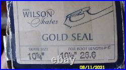 John Wilson GOLD SEAL Ice Skating Blades, Sz. 10 1/4 Made In England NEW