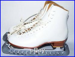 NOS Riedell 320 Figure Skating Boots with MK Club 2000 Blades. US 7 1/2, UK 5.5