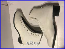 New RIEDELL 355 Silver Star White Figure Ice Skates 6.5 Boots Blades USA $350
