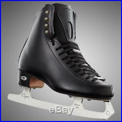 New Riedell 223 Stride Figure Skates Black with Blades 50 Support Level