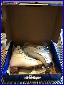 New Riedell 223 Stride Figure Skates White with Blades 50 Support Level