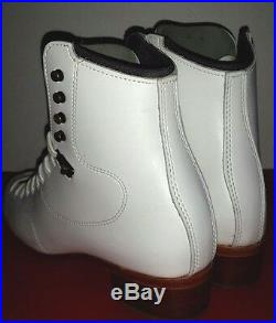 New Riedell Ice figure skate Boots Model 300 White Size 5 No Blade Made in USA