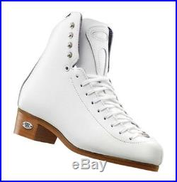 New Riedell Model 32 ice Figure Skate Boots Size 12 WidthNarrow, white, No Blades