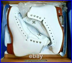 RIEDELL 255 MOTION Ladies Ice Skates White Size 5.5 A blades ASTRA figure BOOTS