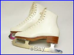 RIEDELL 320W Ladies Figure Ice Skates with England MK Sheffield Blades Size 6.5