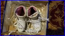RIEDELL PEARL 114W FIGURE SKATES SIZE 4 Luna Stainless Steel blades ice boot
