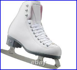 Riedell, 114 Pearl, Women's Recreational Figure Skates with Steel Luna Blade