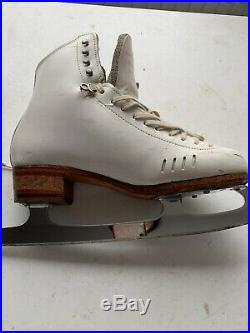 Riedell 1500 HLS White Figure Skates With John Wilson Gold Seal Blades