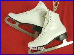 Riedell 220 Ice Figure Skates MK Blade Leather Soles sz 5.5 M