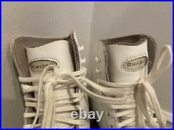 Riedell 320 Club 2000 Blade Ice Figure Skates Leather Soles Size 6