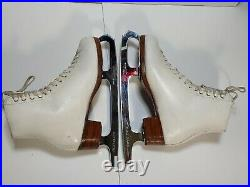 Riedell 355 Silver Star Ladies Figure Skates, Select Classic Blades. Size 6