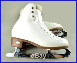 Riedell 910 Flair Ladies Figure Skates Size 6 M with Ultima Aspire 9 3/4 Blades