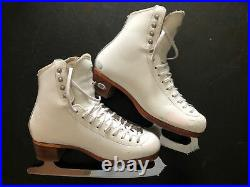Riedell Bronze Star 435 Figure Skates With Coronation Ace Blades Size 5.5 C/B