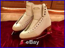 Riedell Bronze Star Figure Skates with Jubilee Blades, Size 4 A/AA