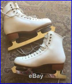 Riedell Bronze Star Womens 6 A/AA Figure Skating Boot Pattern 99 9.75 Blades