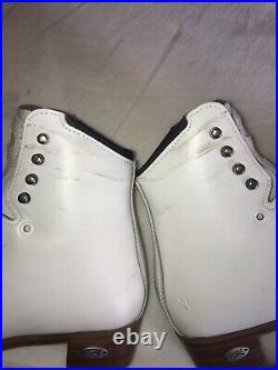 Riedell Edge Womens/youth Figure Ice Skates womens size 5.5 (US 7) with blades