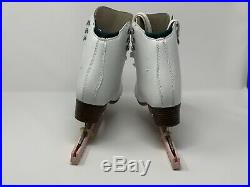 Riedell Emerald Figure Ice Skates -womans size 7, with pink blade keepers