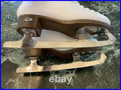 Riedell Emerald Women's Figure Ice Skates With Steel Luna Blades and Covers 6.5