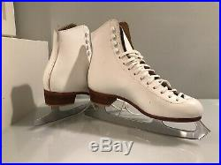 Riedell F 320 Figure Ice Skates Girls / Womens size 6 MK Blades Made In England