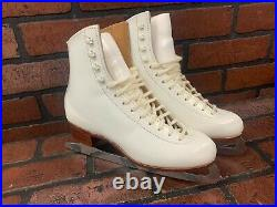 Riedell F 320 Figure Ice Skates Women's Sheffield Blades Made In England NEW
