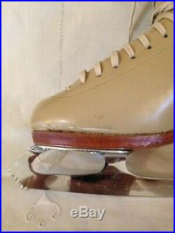 Riedell Figure Skating Boots With Mk Gold Star Blades! Never Used Size 7.5