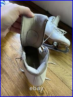 Riedell Flair Girls Figure Skates Size 13W- Coronation Ace Blades Size 8.25