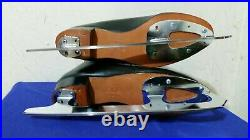 Riedell Ice Figure Skate sz 9.5 black Leather boots, club 2000 blades