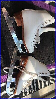 Riedell Ice Figure Skates Model 25 Size 1 1/2 With Wide Blade Club 2000