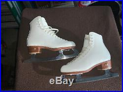 Riedell Ice Figure Skates Wilson Excel Blade sz 5 1/2 Used Once