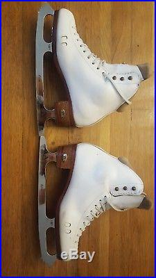 Riedell LS 2010 Figure Skates and Ultima Excel Blades Size 7