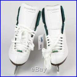 Riedell Skates 119 Emerald Figure Ice Skates with Steel Luna Blades Size 8