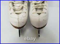Riedell White Ice Skates Size 2 2A 3A with John Wilson Excel Skates 8.5 Blades