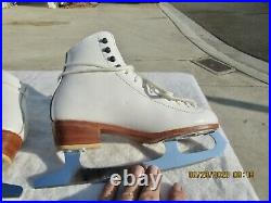 Riedell Women's Ice Skates 300 Size 4 Sapphire Blades IOB Great Condition
